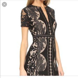 BCBG Black Cailean lace maxi dress